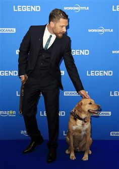 Exploring Tom Hardy, Woody being a star at the Legend premiere. :)