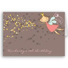 Sweet Fairy and Stars Birthday / Invitation Card