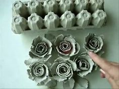 Egg carton flowers egg cartons egg and flower egg carton roses how to diy recycle paper flowers paper crafts mightylinksfo