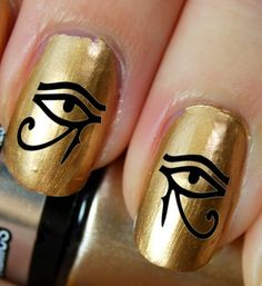 36+Nail+Art+DECALS+Eye+of+Horus+/+Ra+EGYPTIAN+by+NorthofSalem,+$4.99