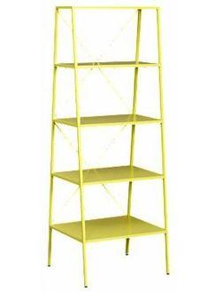 Yellow Metal Bookcase Elegant Random Stuff I M Liking Right now 2 24 11 Barrister Bookcase, Metal Bookcase, Metal Shelves, Wall Shelving Units, Wall Mounted Shelves, Display Shelves, Shelf, Green Bookshelves, Free Standing Shelves