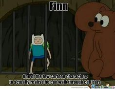 Yesss this is one of the many things I love about adventure time, it's being realistic, while it's actually not realistic at ALL, if that makes sense