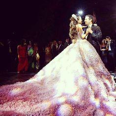 Wedding dress : Elie saab @eliesaabworld.  Wedding venue : Beit Misk @beitmisk.  Photographer : candid image @candid.image.  #lebaneseweddings #tarekandmaya @maya_tamer