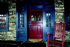 Exterior Dutch Door | Custom DE105 Glass Panel Entrance Unit | www.VintageDoors.com Dutch Doors, Turkey Burger Recipes, Glass Panels, Entrance, The Unit, Home Decor, Photographs, Entryway, Decoration Home