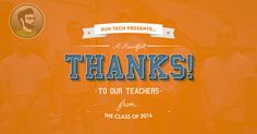 Check out this video I edited for SUN Area Technical Institute! The video features clips taken of students from the class of 2016 thanking their teachers.