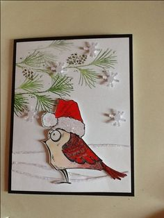 Bird Crazy Christmas card