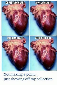 What the human heart looks like from each religion.