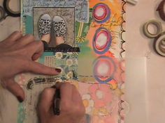 Watch the Process - KICKS Art Journal Page by Roben-Marie Smith.