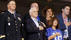 Vice President Mike Pence says he left Sunday's 49ers-Colts game in Indianapolis over protesting that took place during the national anthem.