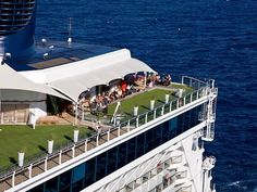Celebrity Cruises' Solstice-class ships feature a half-acre of real grass. (Photo Credit: Celebrity Cruises)