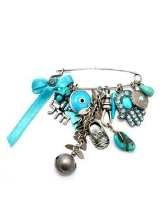 Israeli Amaro Jewelry Studio 'Ocean' Collection Hamsa, Chai, Child's Shoe and Evil Eye Charms Pin Brooch Featuring Turquoise, African Turquoise, Malachite, Howlite, Chrysocolla and Swarovski Crystals; .925 Sterling Silver Plated, http://www.amazon.ca/dp/B00B50B3U0/ref=cm_sw_r_pi_awdl_aJ5Uvb8MGM4DZ