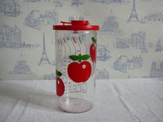 Vintage measuring glass red apple pattern. by MyNiftyBrocante, $16.00
