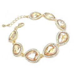 Gold Crystal Wedding Bracelet #GoluBuy