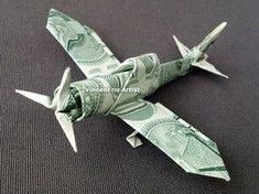 de origami Zero Fighter Plane - Money Origami Dollar Bill Cash Sculptors Bank Note Handmade Airplane Zero Fighter Plane - Money Origami by Vincent-the-Artist on Zibbet Origami Ball, Origami 3d, Origami Star Box, Origami Dragon, Money Origami, Origami Folding, Origami Design, Origami Stars, Origami Plane