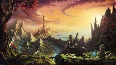 Castle Forest Wallpaper Fantasy Full Hi Res Image Wallpaper