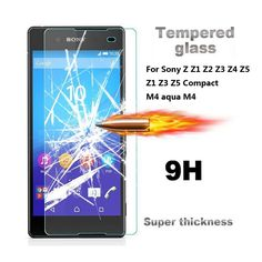9H 0.3mm 2.5D Coated  Tempered Glass For Sony Xperia Z1 Z2 Z3 Z4 Z5 compact mini M4 Aqua M5 Explosion-Proof Screen Protector #clothing,#shoes,#jewelry,#women,#men,#hats,#watches,#belts,#fashion,#style