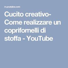 Cucito creativo- Come realizzare un coprifornelli di stoffa - YouTube