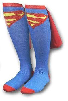 Supergirl Caped Knee Socks on www.amightygirl.com