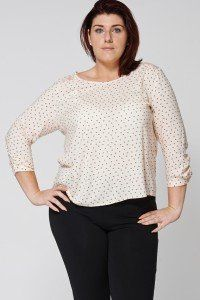 PEACH BLOUSE WITH LACE