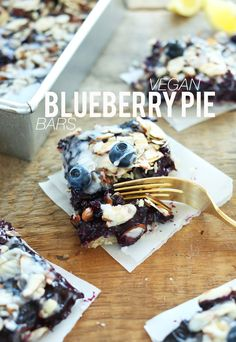 Almond Blueberry Pie Bars with a CookiePie Crust and 2-ingredient glaze