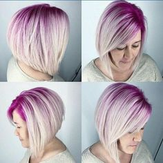This is gorgeous!! Magenta roots and platinum hair