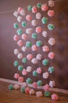 Ideas For Baby Shower Manualidades Tissue Flowers Baby Shower Table Decorations, Baby Shower Centerpieces, Birthday Decorations, House Decorations, Floral Centerpieces, Tissue Flowers, Paper Flowers, Paper Flower Decor, Flowers Decoration