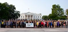 150+ #AmeriCorps Alums came from around the country to convene at  The #WhiteHouse for the momentous event: http://wp.me/ppQS5-15m