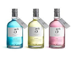 Distilled Gin by Puigdemont Roca Distilled Gin Sorel is a company with 135 years of tradition. Here is a reformulation of the product, trying to make a hole in the gin market with a first set of three different spirits that have elegant, clean, design. Cool Packaging, Bottle Packaging, Brand Packaging, Design Packaging, Packaging Ideas, Alcohol Bottles, Gin Bottles, Gin Set, Tequila