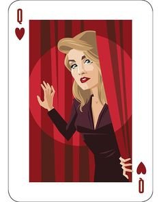 Queen of Hearts is Laura Palmer. By Lenike Sundström.