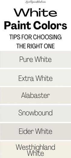 The Best White Paint Colors from Sherwin Williams