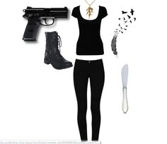 Dauntless outfit <3 maybe get an oxblood shirt too
