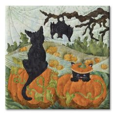 Hocus & Pocus block, in the Halloweenies quilt by McKenna Ryan
