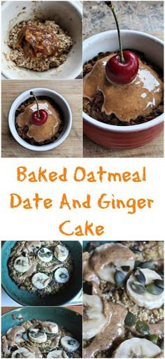 Baked oatmeal date and ginger cake is a filling and flavoursome breakfast. Combined with almond butter and fruit, guaranteed to keep you going until lunch. Suitable for vegans.