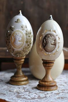 Egg Crafts, Crafts To Do, Easter Crafts, Christmas Crafts, Easter Art, Easter Eggs, Types Of Eggs, Decoupage Art, Faberge Eggs