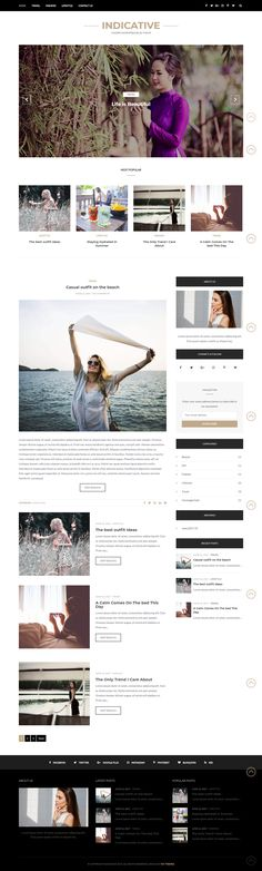 Indicative Blog WordPress Theme for the bloggers