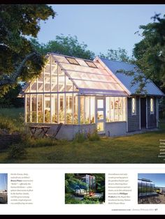 Image result for combined shed and greenhouse