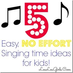 "I'm in charge of singing time for approximately 40 kids ages 3-8 in my church every Sunday. And, because I'm a procrastinator, every Saturday night I'm always looking for easy games to play with the kids to keep them entertained and interested for 20 minutes. I just had to share some of my favorite, go … Continue reading ""5 Easy, NO Effort Singing Time Ideas for Kids."""