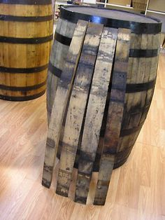 Aged Whiskey Barrel Staves for DIY Projects.