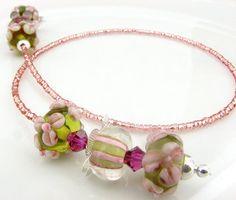 lamp work bead bookmark