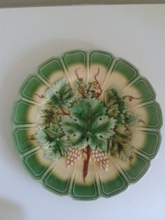 Majolica plate Sarreguemines France. by lampsandotherstars on Etsy