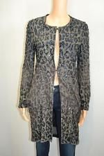 Lanvin Grey/ Black Sequin Long  Duster/Jacket Sz. 38
