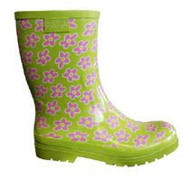 Ratia - Rubber boots, lime/ pink