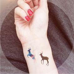 4pcs Roe Deer temporary tattoo - InknArt Temporary Tattoo - wrist quote tattoo body sticker fake tattoo wedding tattoo