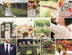 floral, vineyard wedding inspiration