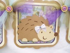 Woodland animals, baby shower banner. This is SO CUTE! Doesn't look hard to make either. ; )