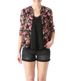 Floral blouson jacket