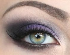 The purple & brown make the blue eyes pop!
