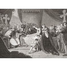 The Court For The Trial Of Queen Katharine By George Henry Harlow Depicting Mrs Siddons As Queen Katharine In Shakespeares Henry Viii From Histoire Des Peintres Cole Anglaise Published 1867 Canvas Ar