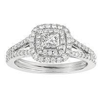 Princess-Cut Diamond Bridal Ring