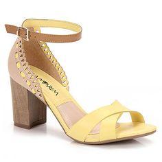 Sandália Salto Feminina Ramarim - Amarelo